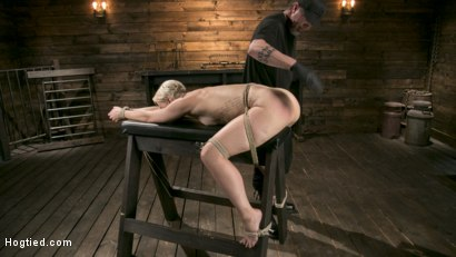 Photo number 13 from Blonde Goddess is Destroyed in Devastating Predicament Bondage shot for Hogtied on Kink.com. Featuring Dylan Ryan and The Pope in hardcore BDSM & Fetish porn.