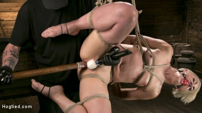 Photo number 6 from Blonde Goddess is Destroyed in Devastating Predicament Bondage shot for Hogtied on Kink.com. Featuring Dylan Ryan and The Pope in hardcore BDSM & Fetish porn.
