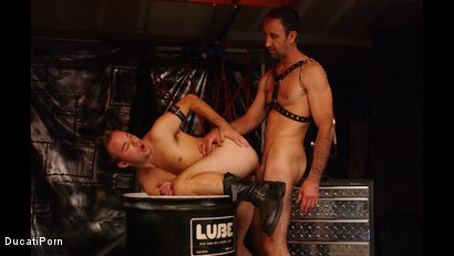 Photo number 12 from Pound the Pup: Steven Richards, Billy Dewitt shot for Ducati Porn on Kink.com. Featuring Billy DeWitt in hardcore BDSM & Fetish porn.