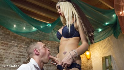 Photo number 9 from Madame Aubrey, Fortune Teller shot for TS Seduction on Kink.com. Featuring Alrik Angel and Aubrey Kate in hardcore BDSM & Fetish porn.