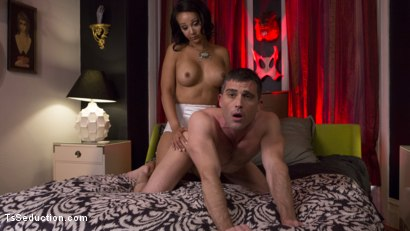 Photo number 12 from TS Hotty Sunshyne Monroe Drains Her Plumbers Throbbing Pipe shot for TS Seduction on Kink.com. Featuring Lance Hart and Sunshyne Monroe in hardcore BDSM & Fetish porn.