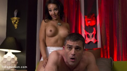 Photo number 13 from TS Hotty Sunshyne Monroe Drains Her Plumbers Throbbing Pipe shot for TS Seduction on Kink.com. Featuring Lance Hart and Sunshyne Monroe in hardcore BDSM & Fetish porn.