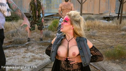 Photo number 4 from SEX WITCH: Cherie Deville Takes Five Hard Cocks in Dystopian Fuck shot for Hardcore Gangbang on Kink.com. Featuring Cherie DeVille, Tommy Pistol, Ramon Nomar, Small Hands, Will Havoc and Tarzan in hardcore BDSM & Fetish porn.
