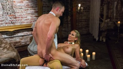 Photo number 15 from Pretty Lil' Fuck Bunny Gets His Dick Sounded and His Ass Fucked by Goddess Cherie Deville shot for Divine Bitches on Kink.com. Featuring Alrik Angel and Cherie DeVille in hardcore BDSM & Fetish porn.