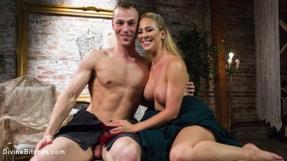 Photo number 16 from Pretty Lil' Fuck Bunny Gets His Dick Sounded and His Ass Fucked by Goddess Cherie Deville shot for Divine Bitches on Kink.com. Featuring Alrik Angel and Cherie DeVille in hardcore BDSM & Fetish porn.