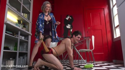 Photo number 9 from Domestic Husband Training  shot for Divine Bitches on Kink.com. Featuring Tony Orlando and Jessica Ryan in hardcore BDSM & Fetish porn.