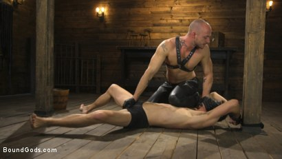 Photo number 2 from The Submission of Cameron Kincade shot for Bound Gods on Kink.com. Featuring Cameron Kincade and Jessie Colter in hardcore BDSM & Fetish porn.