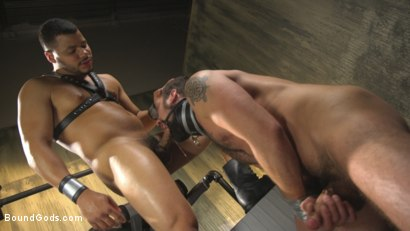 Photo number 13 from Hairy tape-slave worships Master Kaden's uncut cock shot for Bound Gods on Kink.com. Featuring Kaden Alexander and DJ in hardcore BDSM & Fetish porn.