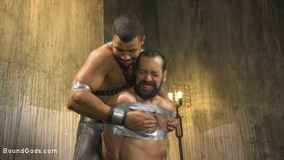 Photo number 5 from Hairy tape-slave worships Master Kaden's uncut cock shot for Bound Gods on Kink.com. Featuring Kaden Alexander and DJ in hardcore BDSM & Fetish porn.