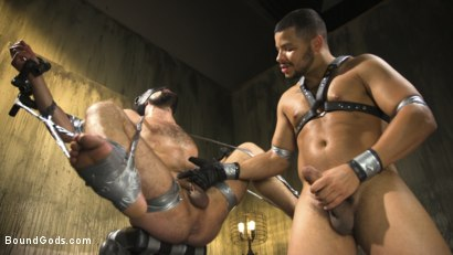 Photo number 9 from Hairy tape-slave worships Master Kaden's uncut cock shot for Bound Gods on Kink.com. Featuring Kaden Alexander and DJ in hardcore BDSM & Fetish porn.