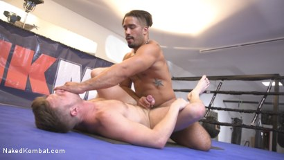 Photo number 12 from Two muscled hunks back for redemption! shot for Naked Kombat on Kink.com. Featuring Trey Turner and Brian Bonds in hardcore BDSM & Fetish porn.