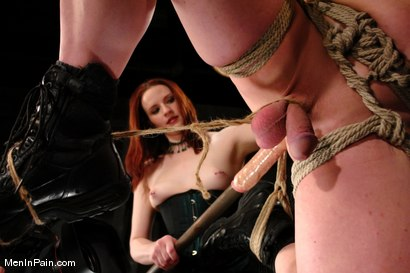Photo number 11 from Double Header: Two Gorgeous Females Fuck and Control their Men shot for Men In Pain on Kink.com. Featuring Claire Adams, Anthony and Beverly Hills in hardcore BDSM & Fetish porn.
