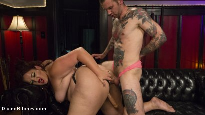 Photo number 9 from Beautiful, Buxom Mimosa Dominates Submissive Pretty Boy shot for Divine Bitches on Kink.com. Featuring Mimosa and Will Havoc in hardcore BDSM & Fetish porn.