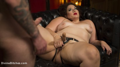 Photo number 13 from Beautiful, Buxom Mimosa Dominates Submissive Pretty Boy shot for Divine Bitches on Kink.com. Featuring Mimosa and Will Havoc in hardcore BDSM & Fetish porn.