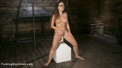 Photo number 13 from Young Bratty Slut Gets Fucked Into Oblivion  shot for Fucking Machines on Kink.com. Featuring Roxanne Rae in hardcore BDSM & Fetish porn.