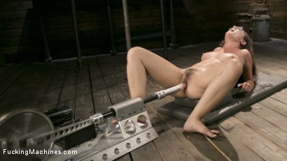 Photo number 6 from Young Bratty Slut Gets Fucked Into Oblivion  shot for Fucking Machines on Kink.com. Featuring Roxanne Rae in hardcore BDSM & Fetish porn.