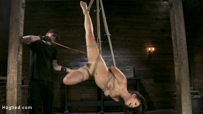 Photo number 7 from Tiny Sexual Plaything Gina Valentina Tied and Fucked in Rope Bondage!  shot for Hogtied on Kink.com. Featuring Gina Valentina and The Pope in hardcore BDSM & Fetish porn.