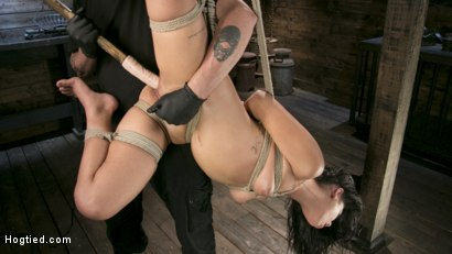 Photo number 9 from Tiny Sexual Plaything Gina Valentina Tied and Fucked in Rope Bondage!  shot for Hogtied on Kink.com. Featuring Gina Valentina and The Pope in hardcore BDSM & Fetish porn.