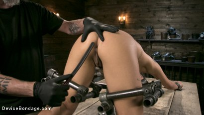 Photo number 15 from Petite Submissive Slut Gina Valentina Gets Punished in Brutal Bondage! shot for Device Bondage on Kink.com. Featuring Gina Valentina and The Pope in hardcore BDSM & Fetish porn.