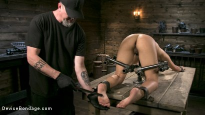 Photo number 5 from Petite Submissive Slut Gina Valentina Gets Punished in Brutal Bondage! shot for Device Bondage on Kink.com. Featuring Gina Valentina and The Pope in hardcore BDSM & Fetish porn.