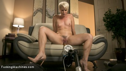 Photo number 11 from Sexy Blonde Cougar Takes Our Machines for a Spin shot for Fucking Machines on Kink.com. Featuring Helena Locke in hardcore BDSM & Fetish porn.