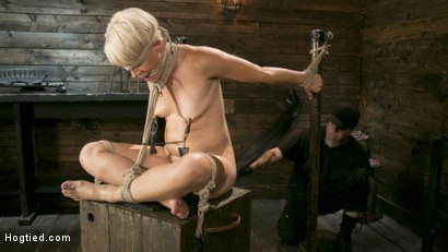 Photo number 1 from Blonde Buff MILF Helena Locke Made to Cum in Tight Rope Bondage!! shot for Hogtied on Kink.com. Featuring The Pope and Helena Locke in hardcore BDSM & Fetish porn.