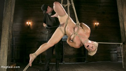 Photo number 14 from Blonde Buff MILF Helena Locke Made to Cum in Tight Rope Bondage!! shot for Hogtied on Kink.com. Featuring The Pope and Helena Locke in hardcore BDSM & Fetish porn.