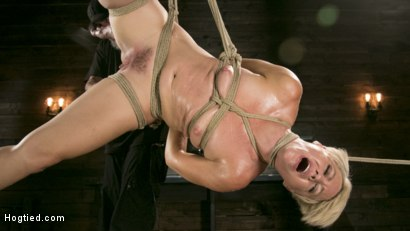 Photo number 15 from Blonde Buff MILF Helena Locke Made to Cum in Tight Rope Bondage!! shot for Hogtied on Kink.com. Featuring The Pope and Helena Locke in hardcore BDSM & Fetish porn.