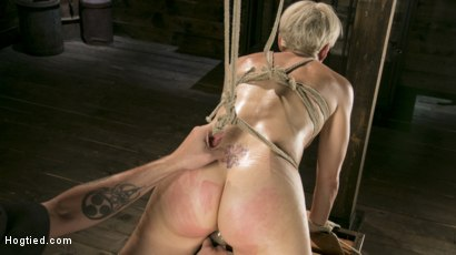 Photo number 20 from Blonde Buff MILF Helena Locke Made to Cum in Tight Rope Bondage!! shot for Hogtied on Kink.com. Featuring The Pope and Helena Locke in hardcore BDSM & Fetish porn.