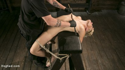 Photo number 7 from Blonde Buff MILF Helena Locke Made to Cum in Tight Rope Bondage!! shot for Hogtied on Kink.com. Featuring The Pope and Helena Locke in hardcore BDSM & Fetish porn.