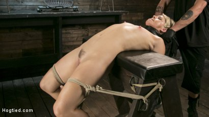 Photo number 9 from Blonde Buff MILF Helena Locke Made to Cum in Tight Rope Bondage!! shot for Hogtied on Kink.com. Featuring The Pope and Helena Locke in hardcore BDSM & Fetish porn.
