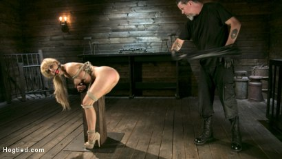 Photo number 10 from Buff MILF Cherie Deville Submits to Rope Bondage and Unwilling Orgasms shot for Hogtied on Kink.com. Featuring Cherie DeVille and The Pope in hardcore BDSM & Fetish porn.