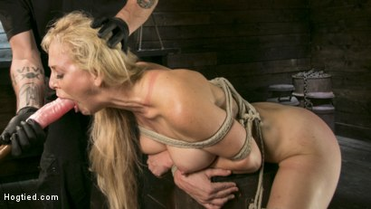 Photo number 12 from Buff MILF Cherie Deville Submits to Rope Bondage and Unwilling Orgasms shot for Hogtied on Kink.com. Featuring Cherie DeVille and The Pope in hardcore BDSM & Fetish porn.