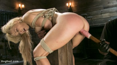Photo number 13 from Buff MILF Cherie Deville Submits to Rope Bondage and Unwilling Orgasms shot for Hogtied on Kink.com. Featuring Cherie DeVille and The Pope in hardcore BDSM & Fetish porn.