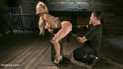Photo number 15 from Buff MILF Cherie Deville Submits to Rope Bondage and Unwilling Orgasms shot for Hogtied on Kink.com. Featuring Cherie DeVille and The Pope in hardcore BDSM & Fetish porn.