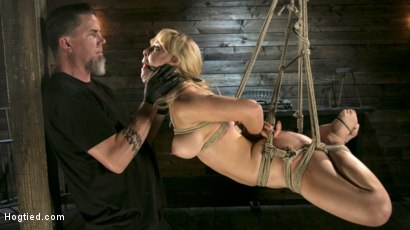 Photo number 7 from Buff MILF Cherie Deville Submits to Rope Bondage and Unwilling Orgasms shot for Hogtied on Kink.com. Featuring Cherie DeVille and The Pope in hardcore BDSM & Fetish porn.