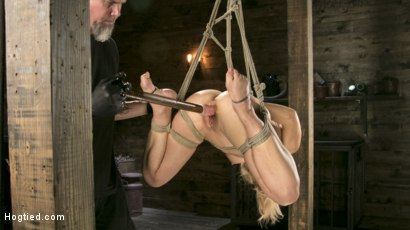 Photo number 9 from Buff MILF Cherie Deville Submits to Rope Bondage and Unwilling Orgasms shot for Hogtied on Kink.com. Featuring Cherie DeVille and The Pope in hardcore BDSM & Fetish porn.