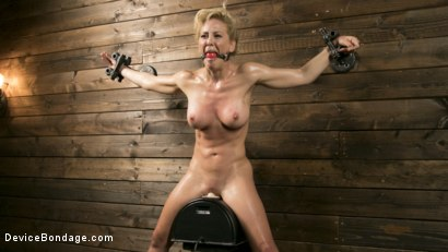 Photo number 12 from Athletic MILF Fuck Toy Cherie Deville Punished in Bondage and Sybian!! shot for Device Bondage on Kink.com. Featuring Cherie DeVille and The Pope in hardcore BDSM & Fetish porn.