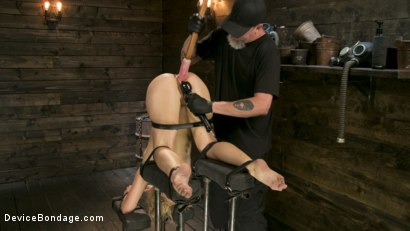 Photo number 14 from Athletic MILF Fuck Toy Cherie Deville Punished in Bondage and Sybian!! shot for Device Bondage on Kink.com. Featuring Cherie DeVille and The Pope in hardcore BDSM & Fetish porn.