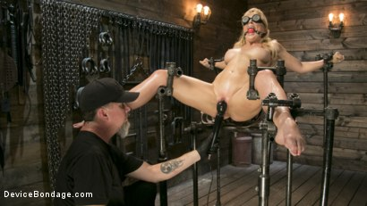 Photo number 2 from Athletic MILF Fuck Toy Cherie Deville Punished in Bondage and Sybian!! shot for Device Bondage on Kink.com. Featuring Cherie DeVille and The Pope in hardcore BDSM & Fetish porn.