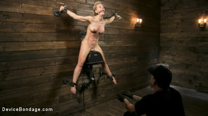 Photo number 9 from Athletic MILF Fuck Toy Cherie Deville Punished in Bondage and Sybian!! shot for Device Bondage on Kink.com. Featuring Cherie DeVille and The Pope in hardcore BDSM & Fetish porn.