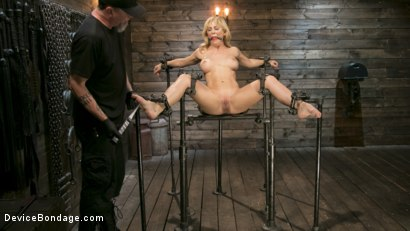 Photo number 1 from Athletic MILF Fuck Toy Cherie Deville Punished in Bondage and Sybian!! shot for Device Bondage on Kink.com. Featuring Cherie Deville and The Pope in hardcore BDSM & Fetish porn.