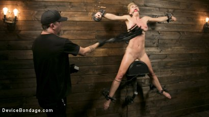 Photo number 11 from Athletic MILF Fuck Toy Cherie Deville Punished in Bondage and Sybian!! shot for Device Bondage on Kink.com. Featuring Cherie Deville and The Pope in hardcore BDSM & Fetish porn.