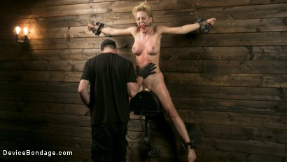 Photo number 13 from Athletic MILF Fuck Toy Cherie Deville Punished in Bondage and Sybian!! shot for Device Bondage on Kink.com. Featuring Cherie DeVille and The Pope in hardcore BDSM & Fetish porn.