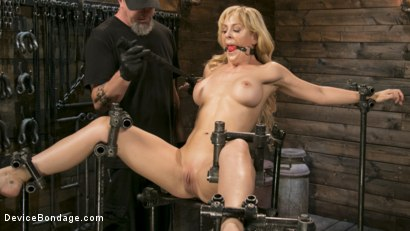 Photo number 3 from Athletic MILF Fuck Toy Cherie Deville Punished in Bondage and Sybian!! shot for Device Bondage on Kink.com. Featuring Cherie Deville and The Pope in hardcore BDSM & Fetish porn.