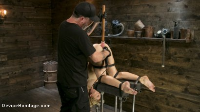 Photo number 7 from Athletic MILF Fuck Toy Cherie Deville Punished in Bondage and Sybian!! shot for Device Bondage on Kink.com. Featuring Cherie Deville and The Pope in hardcore BDSM & Fetish porn.