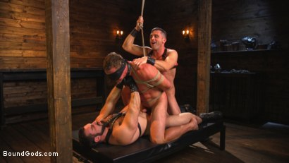Photo number 2 from Bound Gods presents Beasts of Bondage shot for Bound Gods on Kink.com. Featuring Trenton Ducati, Brock Avery, Connor Maguire, Drake Tyler, Jessie Colter, Shawn Andrews, Logan Taylor, Jay Rising, Troy Sparks, Van Darkholme, Zane Anders, Adam Ramzi, Jaxton Wheeler, Lance Hart and Pierce Paris in hardcore BDSM & Fetish porn.