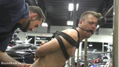 Photo number 5 from Abuse in the Workplace shot for Bound Gods on Kink.com. Featuring Jaxton Wheeler and Christian Taylor in hardcore BDSM & Fetish porn.