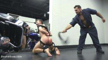Photo number 7 from Abuse in the Workplace shot for Bound Gods on Kink.com. Featuring Jaxton Wheeler and Christian Taylor in hardcore BDSM & Fetish porn.
