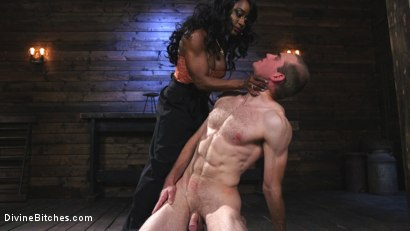 Photo number 2 from Ebony Dominatrix Kelli Provocateur Punishes Sub Man and Fucks His Ass!  shot for Divine Bitches on Kink.com. Featuring Kelli Provocateur and Jonah Marx in hardcore BDSM & Fetish porn.
